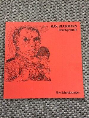 Max Beckmann Ausstellung Druckgraphik München 2002 Schweinsteiger Graphik Top