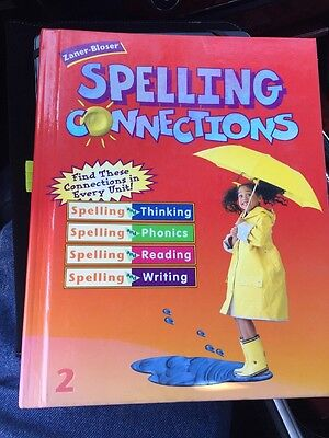 2Nd Grade Spelling Connections Spelling Book Zaner Bloser Great For Homeschool