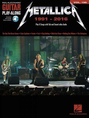 Metallica: 1991-2016 Sheet Music Guitar Play-Along Book and Audio NEW 000234292