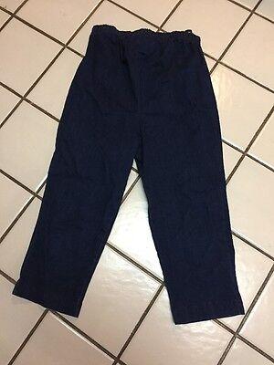 (Motherhood Maternity Cotton Spandex Cropped Capri Dark Denim Jeans Sz S)