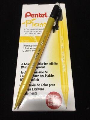 New Planetz Pentel 12 Count Mechanical Yellow Pencils .7 Mm Alp7g