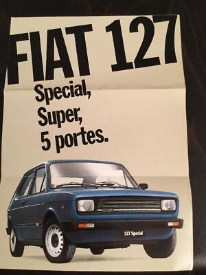 Fiat 127 Brochure - c1980 In French