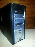 "Black Desktop  AMD Opteron 2.0GHz System w/ 17"" NEC LCD Monitor"