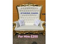 Throne Chairs for hire