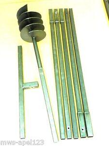 200 6 m tres tari re main perceuse de puits tariere auger drill foret ebay. Black Bedroom Furniture Sets. Home Design Ideas