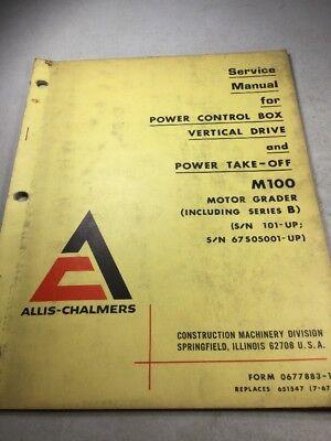 Allis Chalmers M100 Grader Power Control Box Power Take-off Service Manual