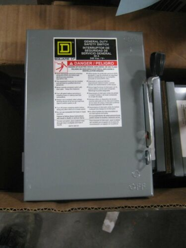 Square-D DU322 Safety Switch 60A 220/240V 1/ 3Phase