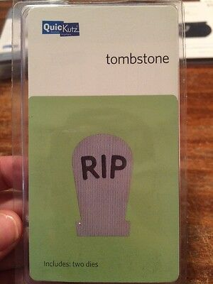 2 Halloween Headstones (New Quickutz Tombstone Grave Headstone 2X2 Die)