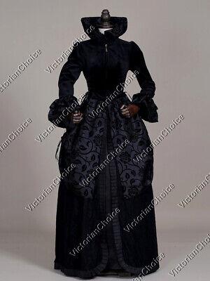 Black Renaissance Game of Thrones Queen Dress Witch Halloween Costume 331 XXL