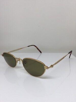 New Vintage Matsuda 2877 Cat Eye Sunglasses C. PG Shiny Gold 49mm Japan