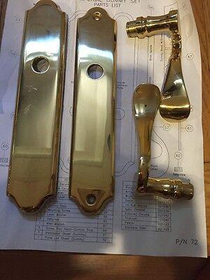 IMPERIAL DUMMY SET POLISHED BRASS DOOR LEVER SET Door Lever Set Polished Brass