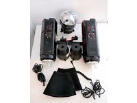 BOWENS ESPRIT 1000 W : TWO HEADS KIT WITH STANDS AND CARRY BAG