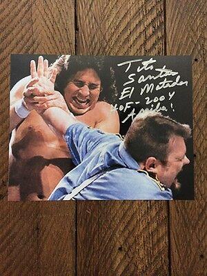 Tito Santana Autographed 8X10 Photo  W Big Bossman   Wwe Hof 2004  Ariba