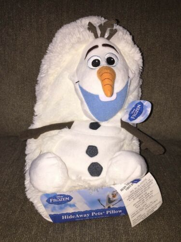 Olaf Disney Frozen Hide Away Pet Snowman Plush Toy Pillow St