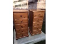 1x tall 5 drawer chest of drawers, vgc