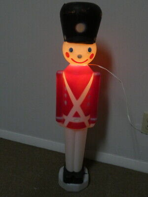 Vintage Christmas Lighted Blow Mold Toy Soldier 31""