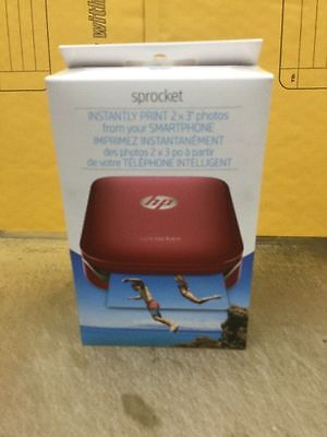 Genuine HP  Sprocket Photo Printer - RED Brand New Sealed