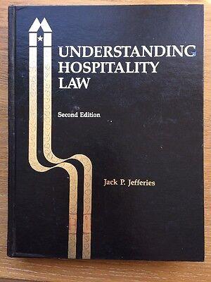 Understanding Hospitality Law   Jack Jefferies Hotel Motel Management Hard Cover