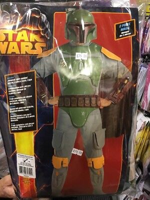Mens Star Wars DELUXE Bounty Hunter Boba Fett Costume fancy dress COSPLAY (Star Wars Bounty Hunter Kostüm)