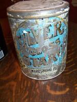old CANADA STARCH tin SILVER GLOSS tin dated 1800s