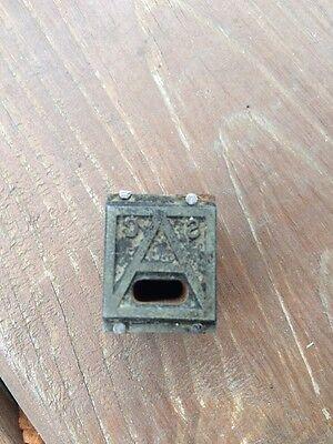 Vintage Printing Letterpress Block Initials A C S