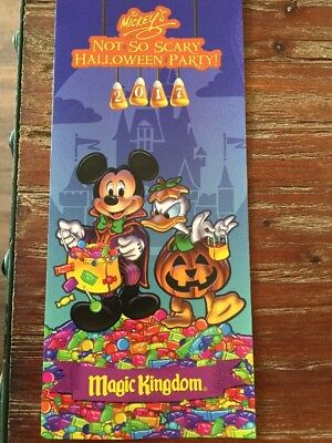 2017 Mickey's Not So Scary Halloween Party Walt Disney World Event Map - Halloween Disney World 2017