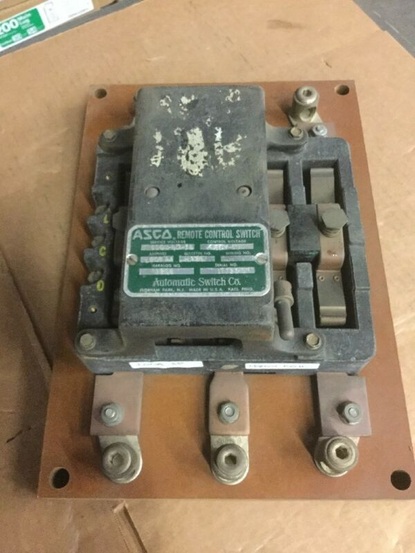 ASCO 9206 200 AMP 920 600VAC Remote Control Switch 460V Coil