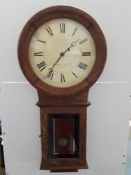 Chelsea Clock Co. Boston Wall Clock Honey Maple Case Lot 833