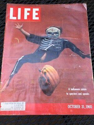 Life Magazine October 31 1960 Birthday Halloween Salute.. Richard Nixon](31 October Halloween)
