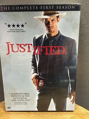 Justified: The Complete First Season (DVD, 2011, 3-Disc Set) NEW!!
