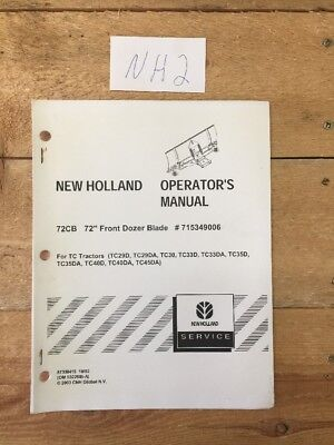 New Holland 72cb Front Dozer Blade Operators Manual
