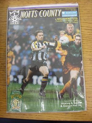 23/03/1993 Notts County v Southend United  (Good Condition)