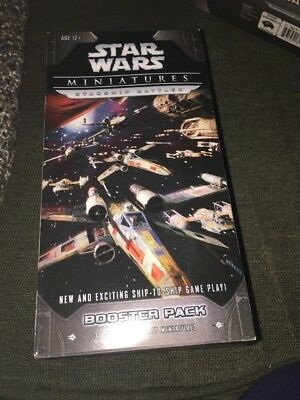 Star Wars Miniatures Starship Battles Booster Pack Unopened