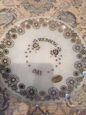 Fiesta Glass Wedding Day Celebration Plate