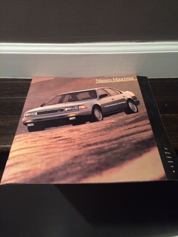 1989 Nissan Maxima Brochure mx5368-3SPTEF