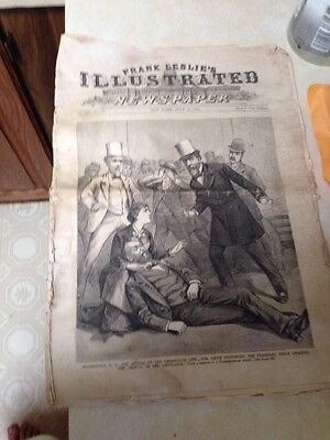 Frank Leslie Illustrated July 16 1881 Attack On President