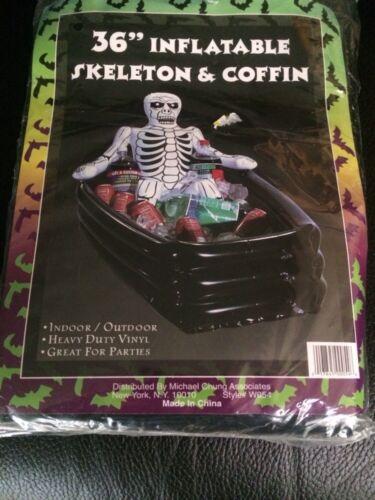"""Halloween 36"""" Inflatable Skeleton & Coffin"""