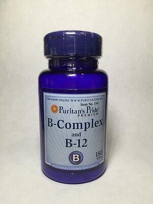 Puritans Pride  Vitamin B Complex And Vitamin B 12  180 Tablets