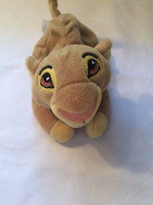 "Lion King Simba Walt Disney Laying Down Bean Bag Plush Movie Young Small 6"""