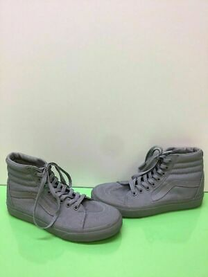 974757368734 VANS Classic Sk8 Hi Gray Canvas Lace Up Skate Shoes Men s Size 7 Women s 8.5