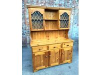 Farmhouse Country Style Pine Kitchen Welsh Dresser - LOCAL FREE DELIVERY