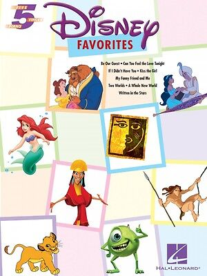 Disney Favorites Five Finger Piano Songbook NEW (Five Finger Piano)