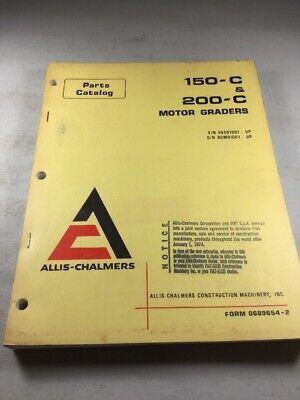 Allis Chalmers 150-c 200-c Motor Graders Parts Catalog Manual