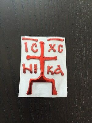 Used, Eastern Orthodox Stickers For Car Guardian Saves & Protects from evil. RED for sale  Shipping to Canada