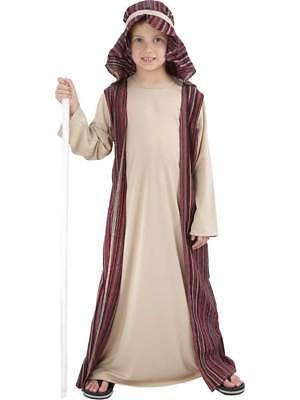 Child Shepherd Fancy Dress Costume Christmas Joseph Innkeeper Nativity Kids Boys