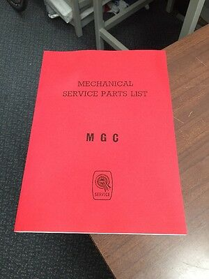 MG C MGC Parts Manual Mechanical Catalogue Workshop Service