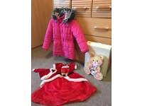 coat age 6-7 santa dress up age 1-2 teddy clock