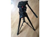 As New Manfrotto 058B Tripod with Manfrotto 501HDV Fluid Video Head