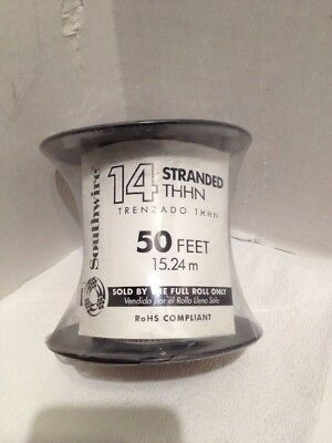 White Stranded Cu Thhn Wire 50 Ft 14 Gauge Single Conductor Electrical Wire New