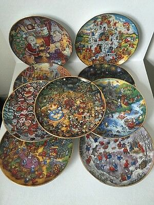 9 Bill Bell Collectors Plates  By The Franklin Mint Heirloom Recommendation.